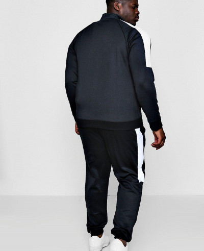 New Custom Made Big And Tall Skinny Fit Panel Tricot Tracksuit