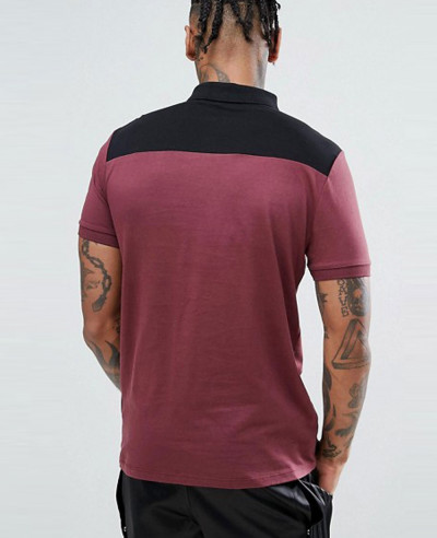 New-Design-Men-Contrast-Panel-Polo-With-Zipper-Neck