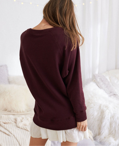 New Fashion Burgundy Sexy Hot Sweatshirt