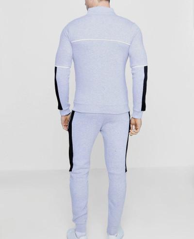 New Fashion Colour Block Zipper Through Tracksuit