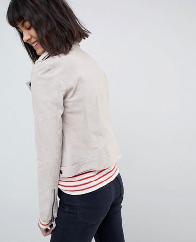 New Fashion Design Suede Biker Jacket