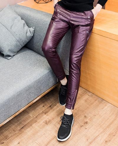 New Fashion Men Pants Skinny Motorcycle Slim Fit