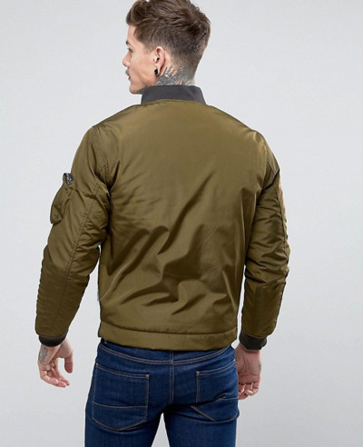 New Fashion Satin Varsity Bomber Jacket