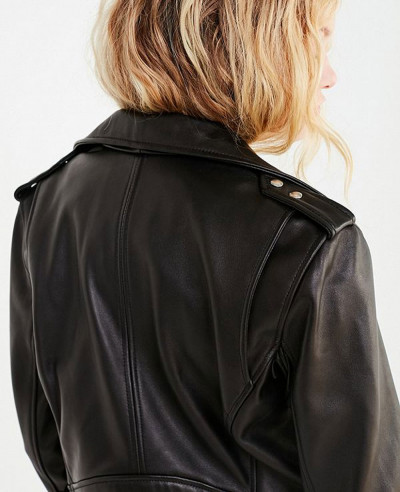 New Fashionable Faux Leather Banded Moto Jacket