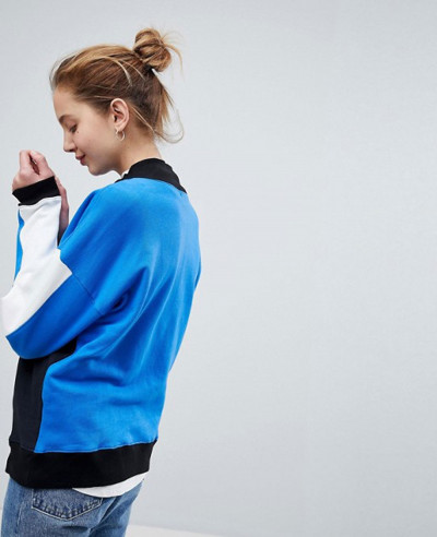 New Fashionable Style Sweatshirt With Zipper High Neck