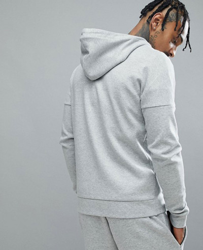 New Fashionable With High Quality Men Grey Hoodie