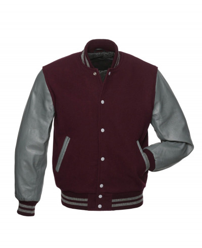 New High Quality College Lettermen Wool & Leather Custom Baseball Varsity Jacket