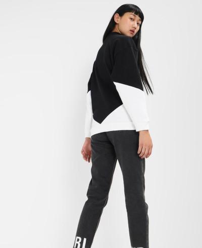New High Quality Custom Color Block Zipper Sweatshirt