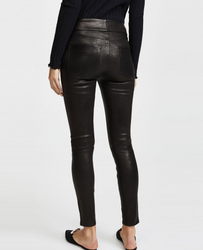 New-High-Waist-Tie-Skinny-Leather-Pant