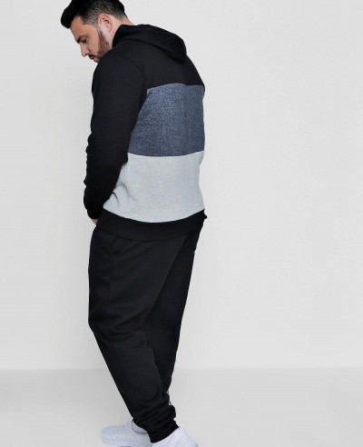 New Hot Selling Big And Tall Skinny Fit Colour Block Tracksuit