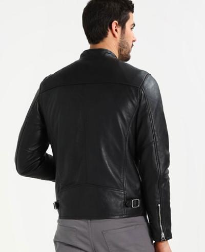 New-Hot-Selling-Men-Biker-Leather-Jacket