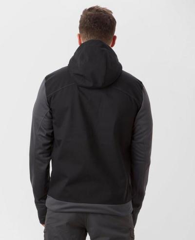 New Hot Selling Men Custom Black Softshell Jacket
