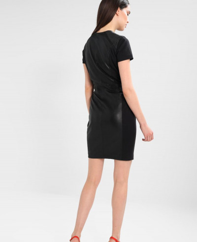 New-Longline-Custom-Leather-Dress