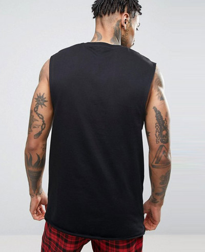 New-Longline-Sleeveless-With-Dropped-Armhole-Tank-Top