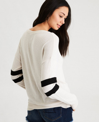 New Look Arm Stripe Crew Neck Sweatshirt