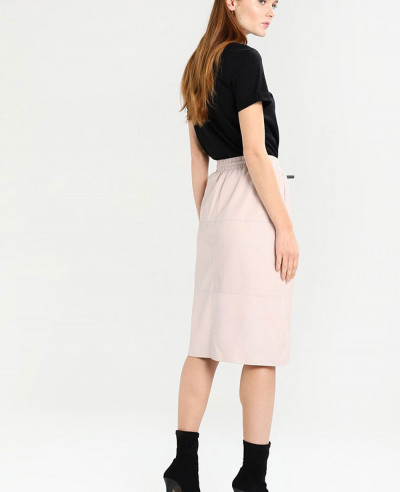 New-Look-Fashion-Pink-Leather-line-Skirt