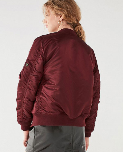 New-Look-Satin-Maroon-Bomber-Varsity-Jacket
