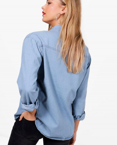 New-Look-Stylish-Women-Oversize-Denim-Shirt