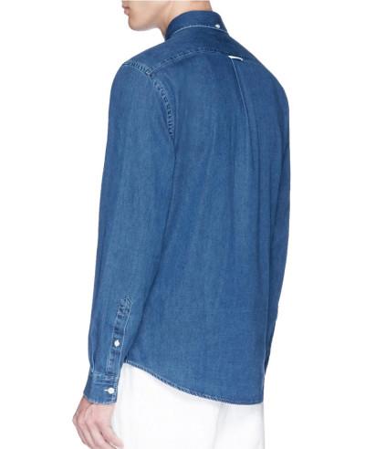 New Navy Blue Men denim Shirt