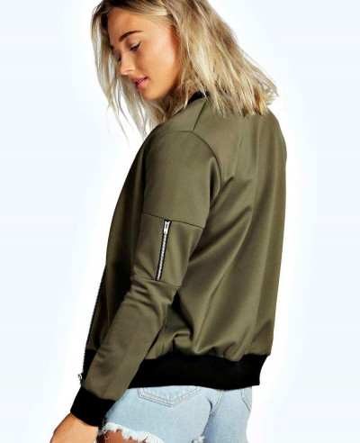 New-Olive-Green-Bomber-Varsity-Jacket