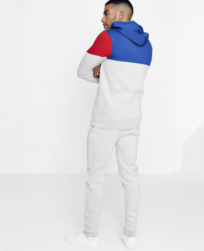 New Skinny Fit Colour Block Hooded Tracksuit