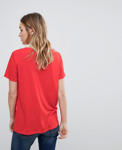 New-Style-Red-Neck-T-Shirt