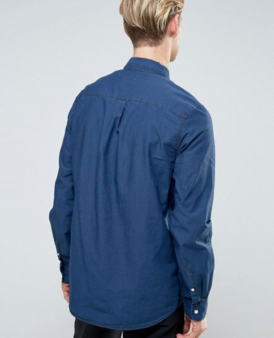 New Stylish Class Denim Shirt Blue
