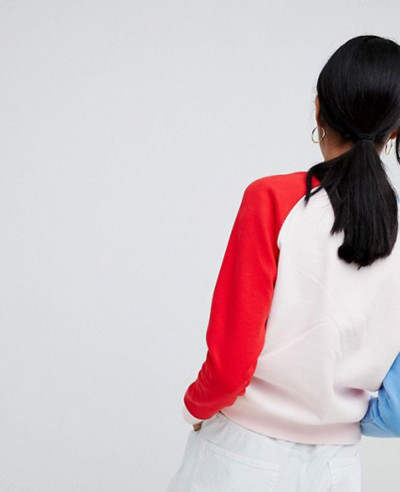 New Stylish Color Block Sweatshirt