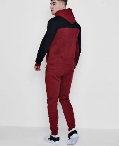 New Stylish Colour Block Hooded Tracksuit