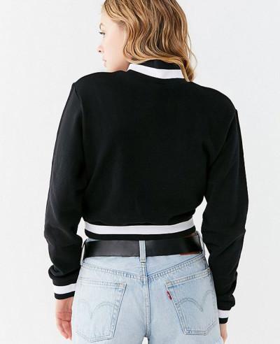New-Stylish-Cotton-Fleece-Track-Half-Zipper-Cropped-Sweatshirt