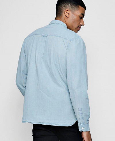 New-Stylish-Custom-Bleach-Denim-Shirt-With-Pockets