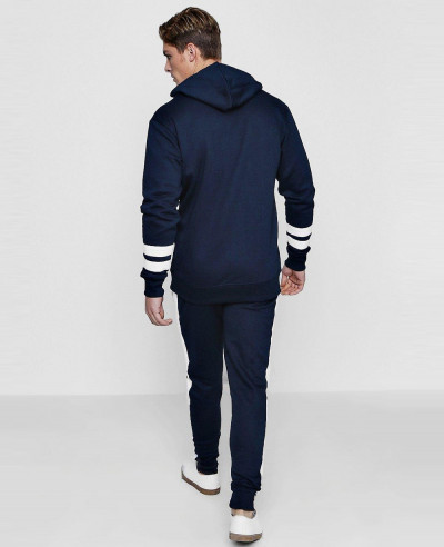 New Stylish Fleece Colour Block Tracksuit