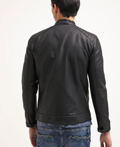 New-Stylish-Men-Classic-Faux-Leather-Jacket