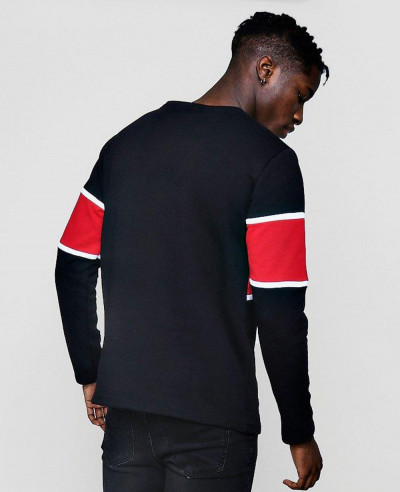 New-Stylish-Men-Colour-Block-Panel-Sweater-Sweatshirt