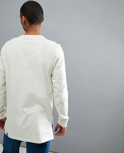 New Stylish Men Long Sleeve Top In Off White T Shirt
