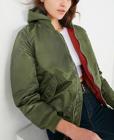 New-Stylish-Women-Bomber-Satin-Varsity-Jacket