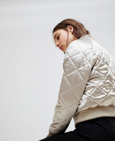 New-Stylish-Women-Quilted-Bomber-Varsity-Jacket