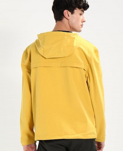 New Look Men Yellow Windbreaker Jacket