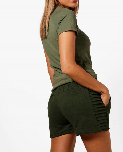 Olive-Green-Women-Fashion-Slim-Fit-Short
