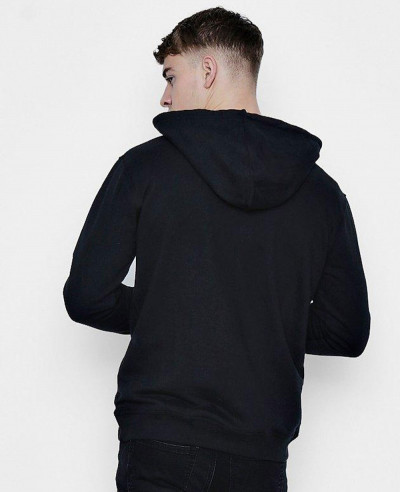 Over The Head Hoodie With Zipper Placket