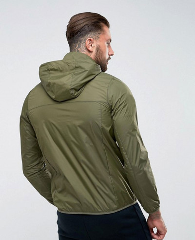 Overhead Jacket With Reflective Logo In Green