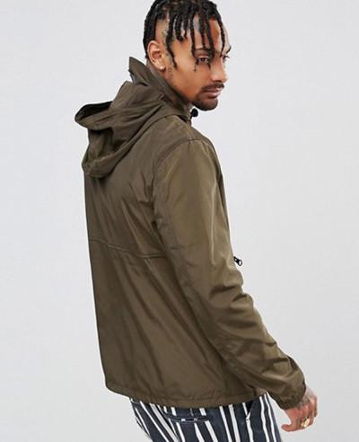Overhead-Windbreaker-With-Zipper-in-Khaki-Jacket