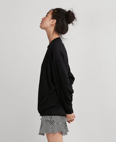 Oversized Women Black Sweatshirt