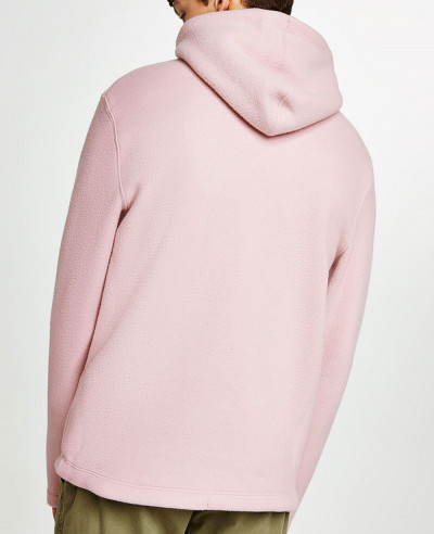 Pink Pullover Stylish Men Fleece Hoodie