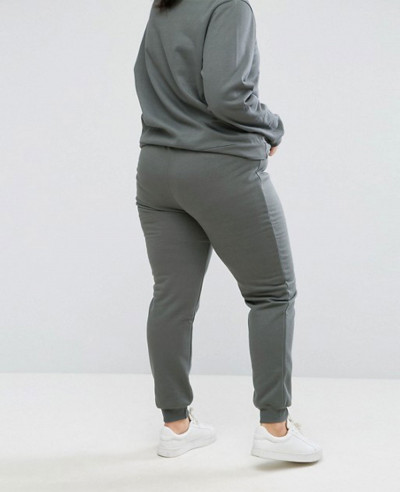 Plus-Jogging-Bottom-In-Sage-Green-Tracksuit