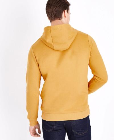 Pullover Men Mustard Pocket Front Hoodie