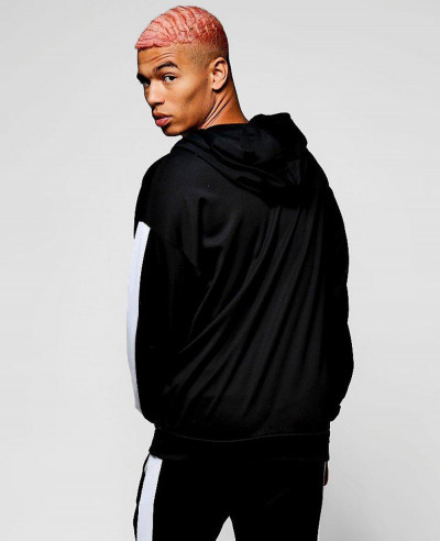 Pullover Oversized Hoodie With Side Panel