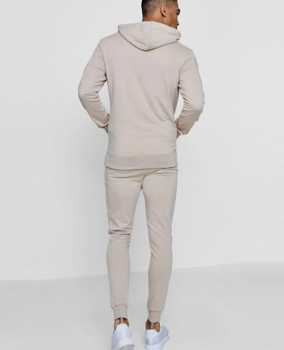 Pullover Pink Stylish Tracksuit With Zipped Pockets
