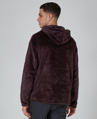 Purple Faux Fur Hoodie