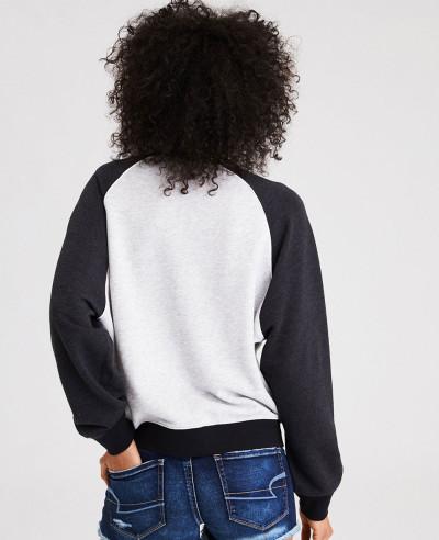 Raglan Custom Crew Neck Sweatshirt